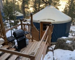 Torreys Yurt Outside