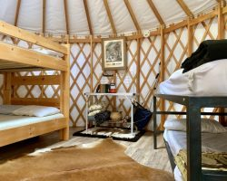 2 Bunk Beds in Yurt