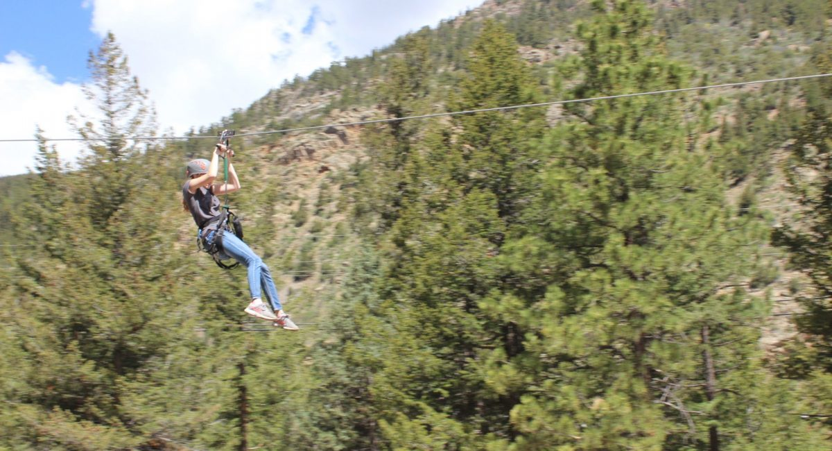 Girl Ziplining