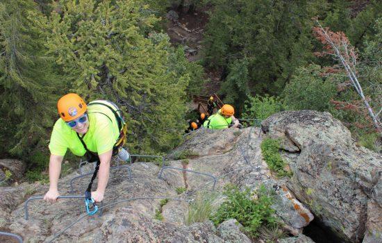 Climbing Up the Via Ferrata